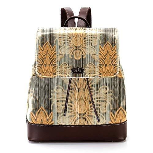 Casual PU Leather Zaino per Uomini, Donne Borsa a Tracolla Studenti Zaino per Viaggi Business College Water Drop Carving