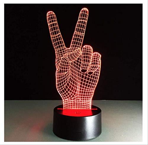3d nachtlicht tragbare lampe handform usb led licht batterie licht kinder lampen 7 farben art deco tischlampe