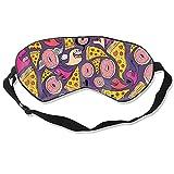 Máscara de ojo para dormir para mujer, hombre, con correa ajustable para la cabeza, cómoda máscara para dormir con los ojos vendados para viajes, trabajo y meditación, colorido perro perro perro