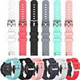 Compatible with Umidigi Uwatch Bands Replacement Colourful Strap Bracelet, 6Pack 22MM Bands for Umidigi Uwatch/ Uwatch 2 /Uwatch 2S Smartwatch Accessories, Soft and Durable