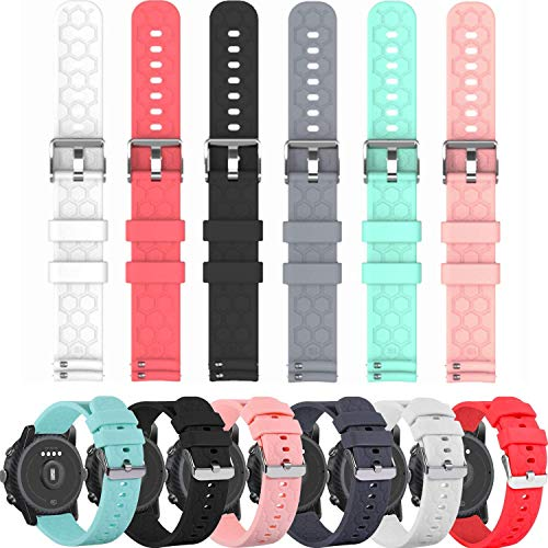 Bands Compatible with AGPTEK LW11 Replacement Wristbands Accessory Colourful Silicone Bracelet 6Pack Quick Release Strap Arm Bands for AGPTEK Smartwatch, Soft and Durable