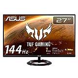 ASUS TUF Gaming ゲーミングモニター VG279Q1R 27インチ フルHD IPS 165Hz 1ms HDMI×2 DP Adaptive-sync ELMB 2W+2Wステレオスピーカー搭載