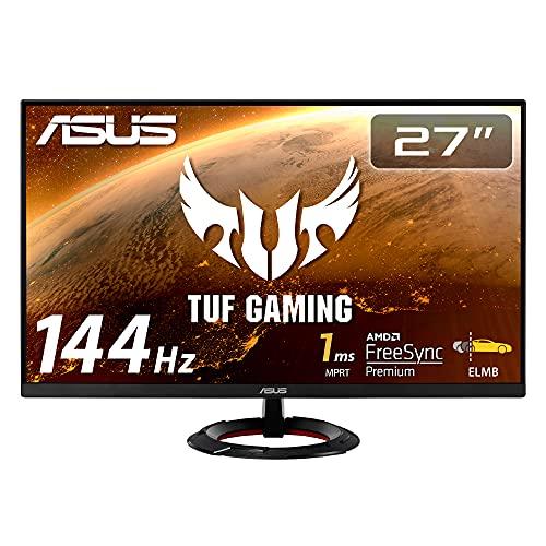ASUSTek TUF Gaming ゲーミングモニター VG279Q1R 27インチ フルHD IPS 144Hz 1ms HDMI×2 DP Adaptive-sync ELMB 2W+2Wステレオスピーカー搭載