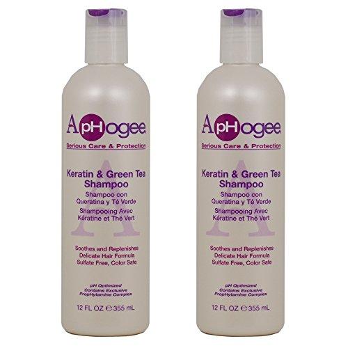 "ApHogee Keratin & Green Tea Shampoo 12oz""Pack of 2"""