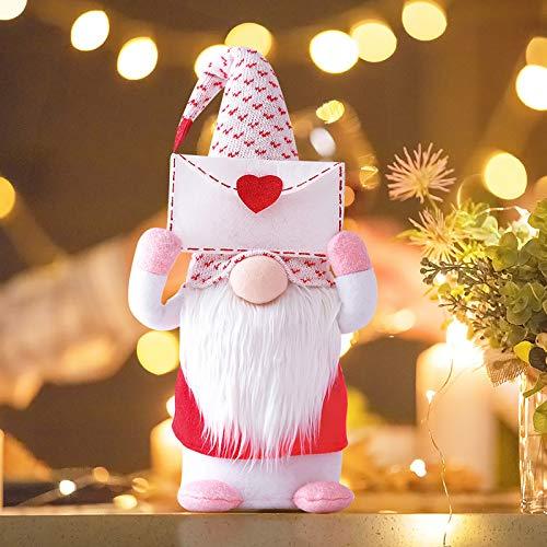 Gnomos suecos, escritorio de pie enano de peluche juguetes escandinavos gnomos suecos muñeca sueca para la decoración del hogar de Navidad (B, S)