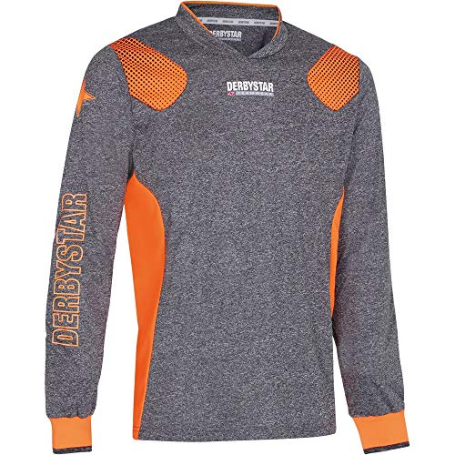 Derbystar Defense Pro Torwarttrikot Unisex, grau orange, XXXL