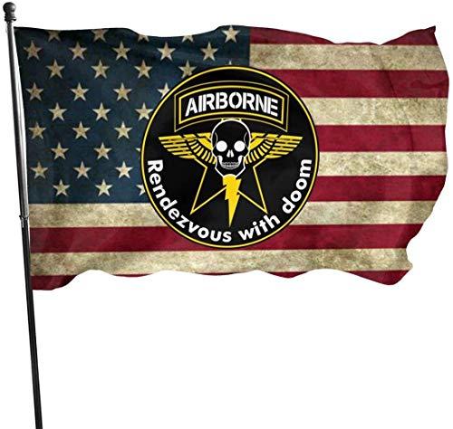 RFTGB Un-Mited States Army Rangers Leichte Infanterie 75. Ranger Regiment Flaggen verblassen Resistant Yard Flag für Gartendekor 3x5 Ft