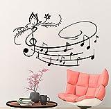 IncredibleWallDecals Music Wall Art Vinyl Decal Butterfly Stickers Musical Notes School Studio Home Decor Bedroom Room Art Murals MN650
