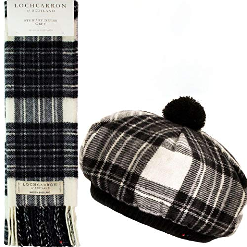 I Luv Ltd Ensemble Chapeau et Echarpe Tammy pour Dames Laine d'agneau Stewart Dress Grey Tartan