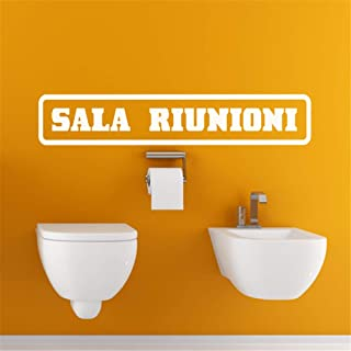 Zaidao Vinyl Saying Lettering Wall Art Inspirational Sign Wall Quote Decor Italian Quote Sala Riunioni for Wc Toilet