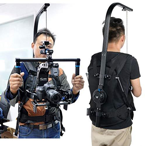 Camera Camcorder-ondersteuningsvest, met armcamerastabilisator, clip intrekbaar, 3-18 kg zware schokdemping, met taille- en borstgordels, voor sportevenementen, documentaires, nieuws