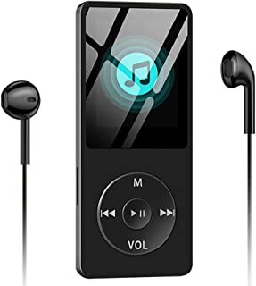 Aigital MP3/MP4 Music Player Built-in 8GB Memory 1.8'' HD Screen HiFi Lossless Sound MP4 Video Player with FM Radio/E-Book/Game, Support Up to 128GB - Black (Include Earphone)