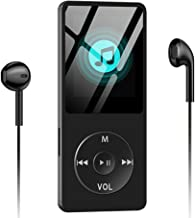 Aigital MP3/MP4 Player Built-in 8GB Memory 1.8'' HD Screen HiFi Lossless Sound MP4 Music Player with FM Radio/E-Book/Game, Support Up to 128GB - Black (Include Earphone, Buit-in Speaker)