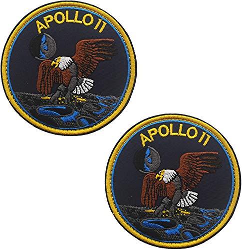 Parches bordados de Apolo 11 de la NASA, 3.15 pulgadas, parches bordados para disfraz
