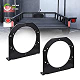 ONLINE LED STORE 2pc 4' Round Tail Light Mounting Bracket [L Shaped] [3mm Powder Coated Steel] [Ultra Sturdy] [Versatile Mounting] for 4' Round Trailer Tail Lights On Truck Trailer RV