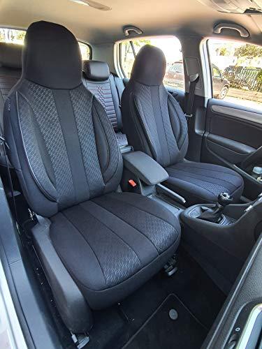 Maß Sitzbezüge kompatibel mit Seat Ibiza III 6L Fahrer & Beifahrer ab 2002-2008 Farbnummer: MD504
