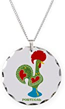 CafePress - Traditional Portuguese Rooster Necklace - Charm Necklace with Round Pendant