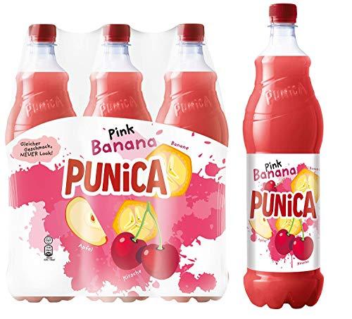 Punica Classic Pink Banana – Fruchtig frisches Mehrfruchtsaftgetränk – 6 x 1,25l Flasche