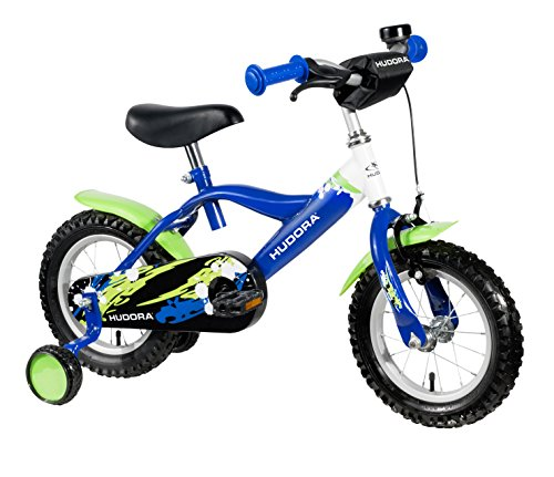 HUDORA Kinder-Fahrrad, blau, mit Stützrädern - Fahrrad für Jungs, 12 Zoll, 10540
