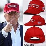 Bestmaple ドナルドトランプ 帽子 キャップ Make America Great Again Hat Donald Trump アメリカ国旗 ベースボールキャップ (B)