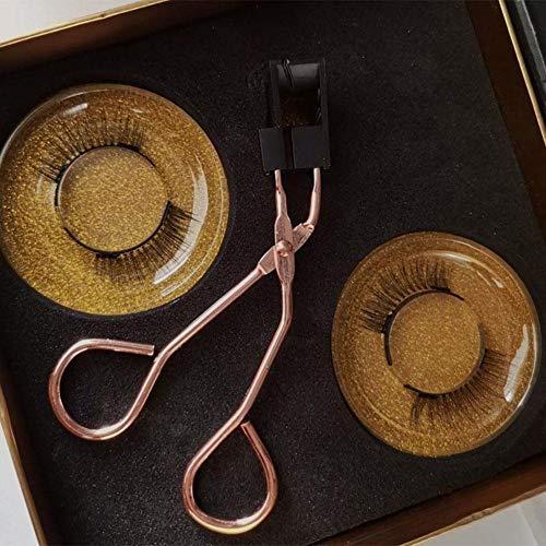 磁気まつげ2020新バージョンつけまつげ磁気まつげ磁石3D極薄超軽量高級繊維つけまつ毛接着剤不要柔らかい再利用可能ピンセット付きメイクアップツールセット、1ペアストレートフラットまつ毛と劇的な長続きするシームレスなカールをしたい人のため