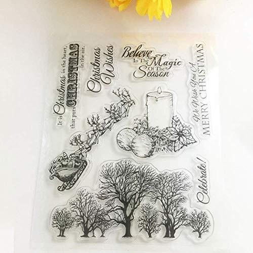 Fliyeong Weihnachtsdekor Silikon Clear Stamper DIY Scrapbooking Kartenalbum Weihnachtsdekoration transparent Silikondichtung Decor Tool Hohe Qualität
