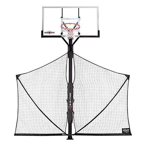 "goaliath basketball hoops Goaliath Basketball Court Yard Guard Ball Retrieval Net 4"" x 4"" Pole"