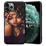 XIX iPhone 11 Case African American Afro Girls Women Slim Fit Shockproof Bumper Cell Phone Accessories Thin Soft Black TPU Protective Apple iPhone 11 Cases (06)
