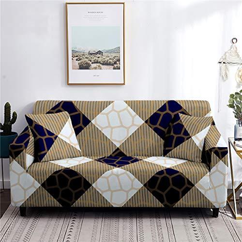 Meiju Fundas de Sofá Elasticas de 1 2 3 4 Plazas Universal Decorativas Funda Cubre Sofas Ajustables, Antideslizante Protector Cubierta de Muebles (Jaspeado,1 Plaza - 90-140cm)