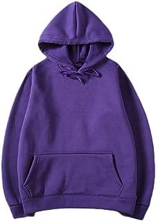 Mogogo Men's Hood Pure Colour Casual Fleece Long-Sleeve Outwear Sweatshirts