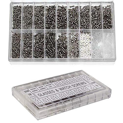 Ruiqas bril reparatie kit schroeven moeren wasmachines schroevendraaier pincet voor bril horloge reparatie