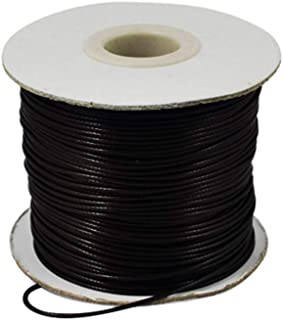 PH PandaHall 185 Yards 1.2mm Black Waxed Polyester Cord Korean Waxed Cord Thread Beading String Bead Cord for Jewellery Bracelets Craft Making