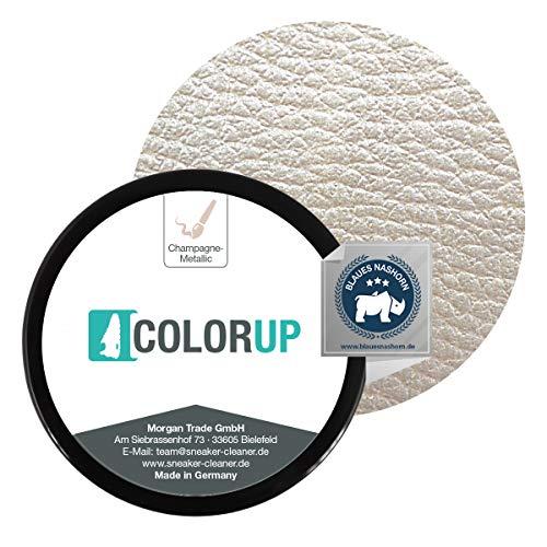 Sneaker Cleaner ColorUp Set (50ml, Champagne-Metallic) Farbe für Leder- und lederähnliche Textilien, in 17 Farbtönen erhältlich, Made in Germany