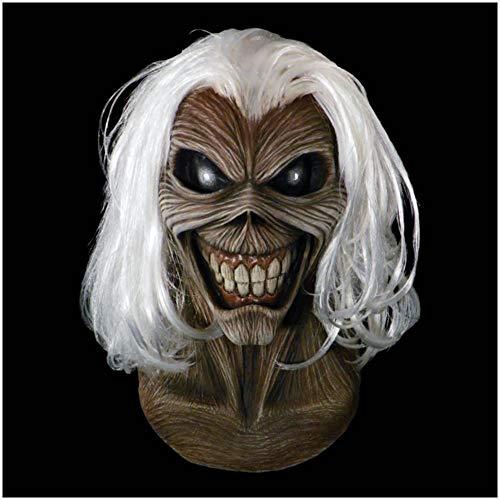 Máscara Oficial de Eddie Killers de Iron Maiden, Máscaras de Bandas de Rock de Zombie Mitad Momia Ideal para Halloween y Conciertos de Heavy Metal