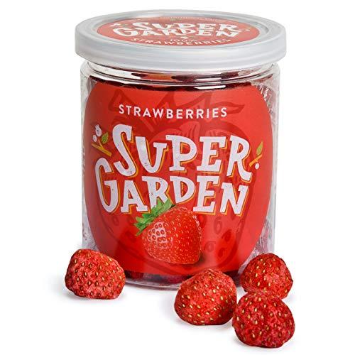 Supergarden fresa entera liofilizada - Snack saludable - Producto 100% puro y...