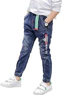 HOSD Ropa para niños en la Marea Grande Vaquero Pantalones de Primavera y otoño para niños Pantalones Largos de Mezclilla ...