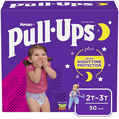 Pull-Ups Night-Time Girls' Training Pants, 2T-3T, 50 Ct