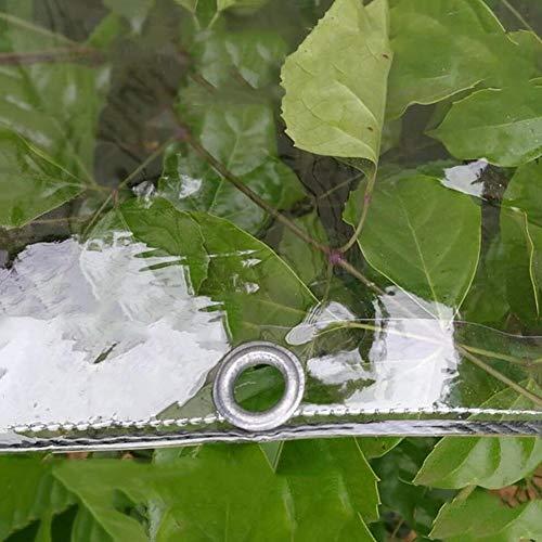 Planen Transparente PVC-Weichfolie wasserdichte, Regendicht Staubdicht Markisenfenster Balkon Bodenplane Abdeckung, 400 G/M² (Color : Thick 0.3mm, Size : 2.4x5M)