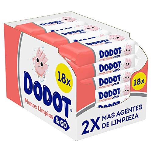 Dodot Manos Limpias & Go 18 Paquetes De 40 Unidades, 720 Toallitas, Toallitas Higienizantes De Manos Para Toda La Familia