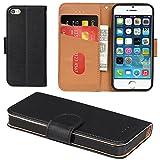 Aicoco Coque iPhone 5, Coque iPhone 5S, Étui Housse en Cuir Flip Case Cover pour Apple iPhone 5 /...