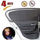 AMTBBK 4 Stück Auto-Sonnenschutz, Seitenfenster Sonnenschutz Universal-Front Rear Windows-Jalousien Für Autoscheiben Kinderautosonnenschutz-Schild UV-Schutz