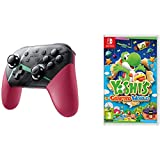 Xenoblade Chronicles 2 Controller & Yoshi's Crafted World Nintendo Switch Gaming Bundle