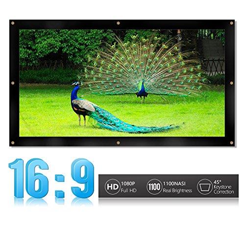 16: 9/4:3 HD Beamer Leinwand Bildschirm Klappbar Faltbar Heimkino Leinwand mit Ösen für HDTV / Sport / Filme / Präsentationen ( Design : 16:9 , Abmessung : 60-inch )