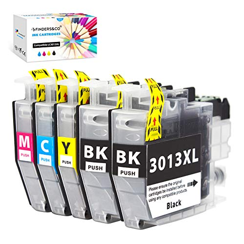 F FINDERS&CO LC3013 Ink Cartridges Replacement for Brother LC 3013 LC-3013 XL LC3011 Ink Compatible with Brother MFC-J491DW MFC-J497DW MFC-J690DW MFC-J895DW Printer (2BK 1C 1M 1 Y, 5-Pack)