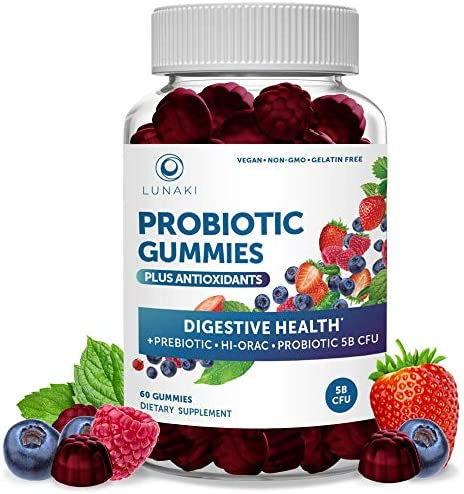 Probiotic Gummies for Adults 5 Billion CFU Probiotics and Prebiotic for Digestive Gut Health product image