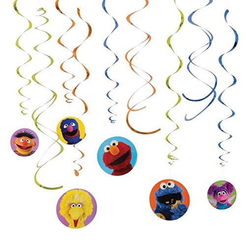 『Sesame Street Hanging Swirl Value Pack 渦巻バリューパックを吊るすセサミストリート♪ハロウィン♪クリスマス♪』の1枚目の画像