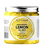 O Naturals Face Cleanser Lemon Vitamin B Vegan Gel Mask for Face. Antioxidant. Neem Oil Treats Acne Oily Skin. Organic Ingredients Anti-Aging Hyaluronic Acid Face Moisturizer. Men & Women Skincare 8oz