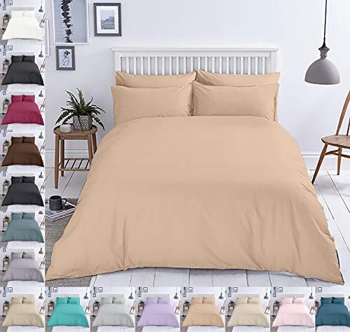 Ropa de cama de algodón reforzado, con cremallera, diseño de 2 a 3 piezas, a elegir