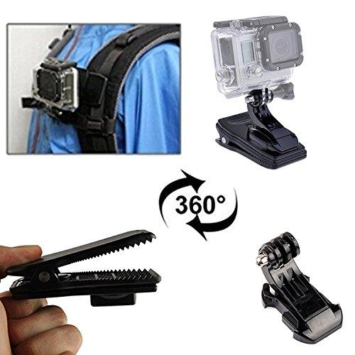 Klemme Mount Camera, Y & M (TM) J Schnalle/Haken + 360Grad Tasche Quick Release Capture Camera Clip für GoPro Orginial HD Hero 1/2/3