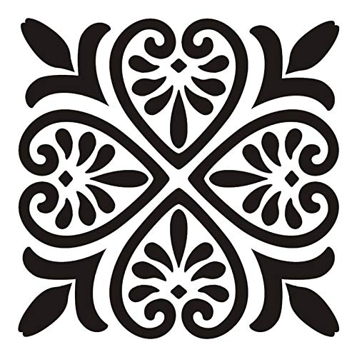 6pcs Mandala Pintura Plantilla, Mandala Plantilla De Pintura A Cielo Abierto, Plantilla De Pintura Reutilizable, Pared De Piso Tela De Tela Muebles Mandala Pintura Plantillas